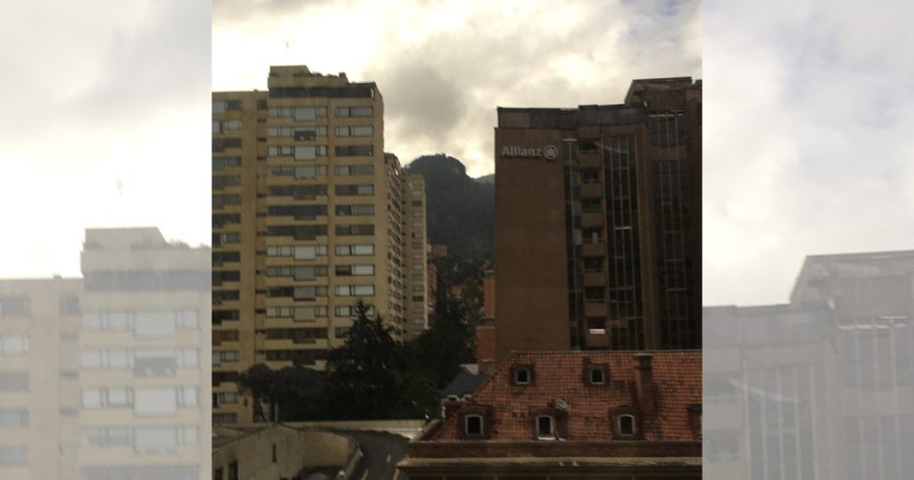 View from my room at Hilton Bogota